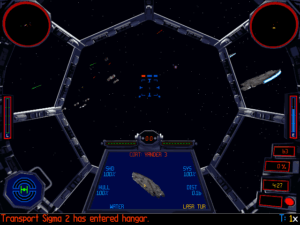 New danger indicators show when you're targeted. The red square means someone's firing lasers at us.