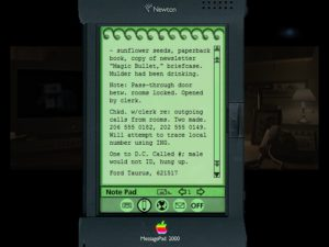 You'll keep your case notes on a cutting edge Apple Newton.