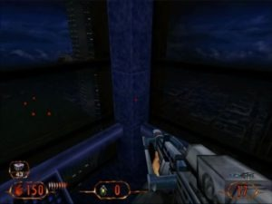 The elevator sequence is one of the game's true show pieces.