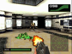 """""""Dog"""" Aliens scamper around the Alien 3 chapter."""