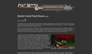 My slapdash combo review of Doom II/Final Doom. I don't know about this one, but the Doom review literally was written inside an office closet.