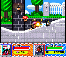 Kirby was running over innocent people before Grand Theft Auto made it cool.