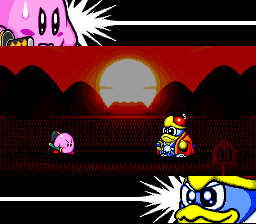 Squaring off with King DeDeDe, probably the only evil penguin in gaming.