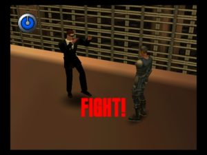 Johnny Slater vs. Agent Smith. *cue Street Fighter music*