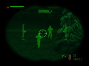 Stalking targets with night vision.
