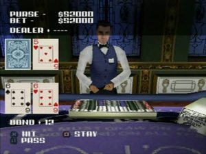 You'll actually play a blackjack minigame.