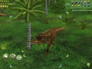 Animations are excellent all around. Dinos run in packs, drink from lakes, or shake their prey to death.
