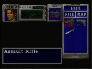 Oh, um, all that stuff you had in Jill's item box? Carlos can't use it.