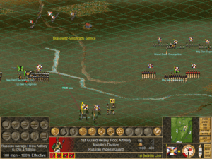 Allied artillery open up on an advancing French brigade.