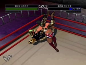 British Bulldog hitting his powerslam on Goldust.
