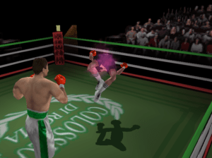 Here, we see Barry McGuigan has been consumed by the Dark Souls from Shadow Man.