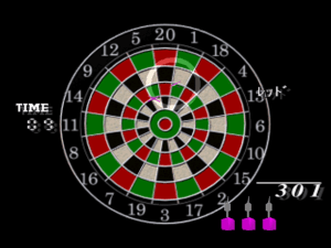 Demonstrating both the aiming system and a board with slightly different dimensions.