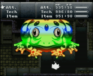 Frog uses Frog Squash, which may be the new leader for Greatest Attack in Gaming History.